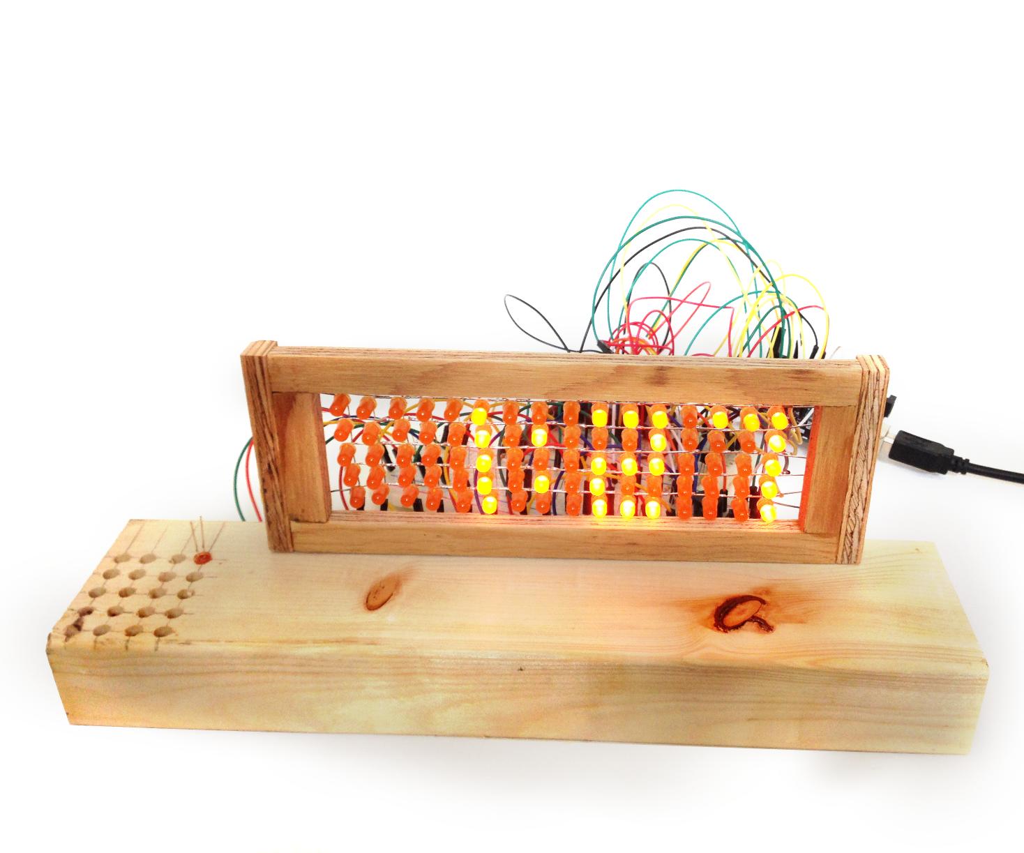 How to make a LED Matrix(that I use as a Clock)