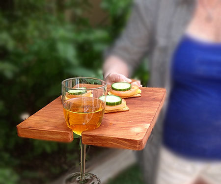 Handy snack and drink platter