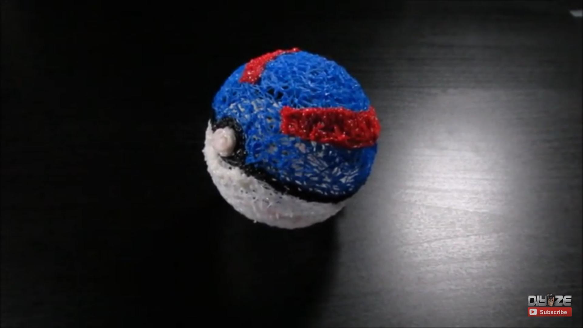 DIY Pokeball using 3D pen
