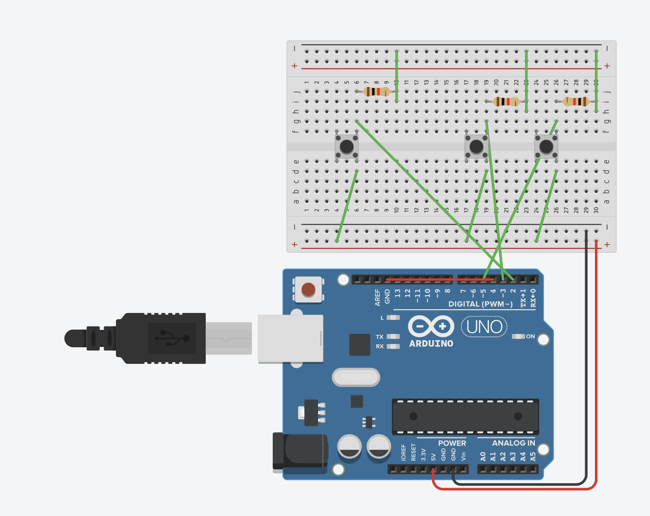 Connect Components to the Breadboard