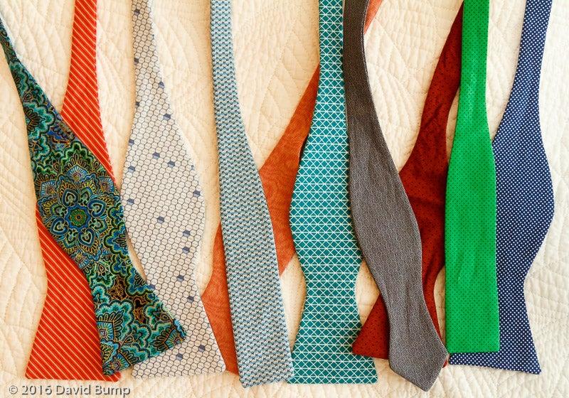 Artist Original Bright Orange necktie fabric pin