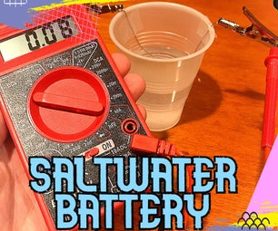 Saltwater Battery + Lesson Plan