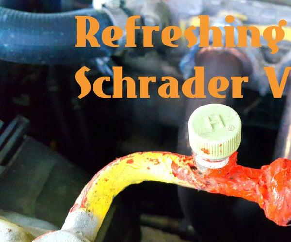 Refreshing the Seal on a Schrader Valve.