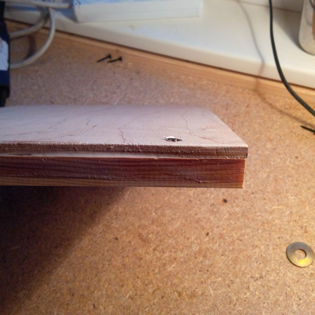 Screw in Wood Screws Till Sharp Tip Is Showing