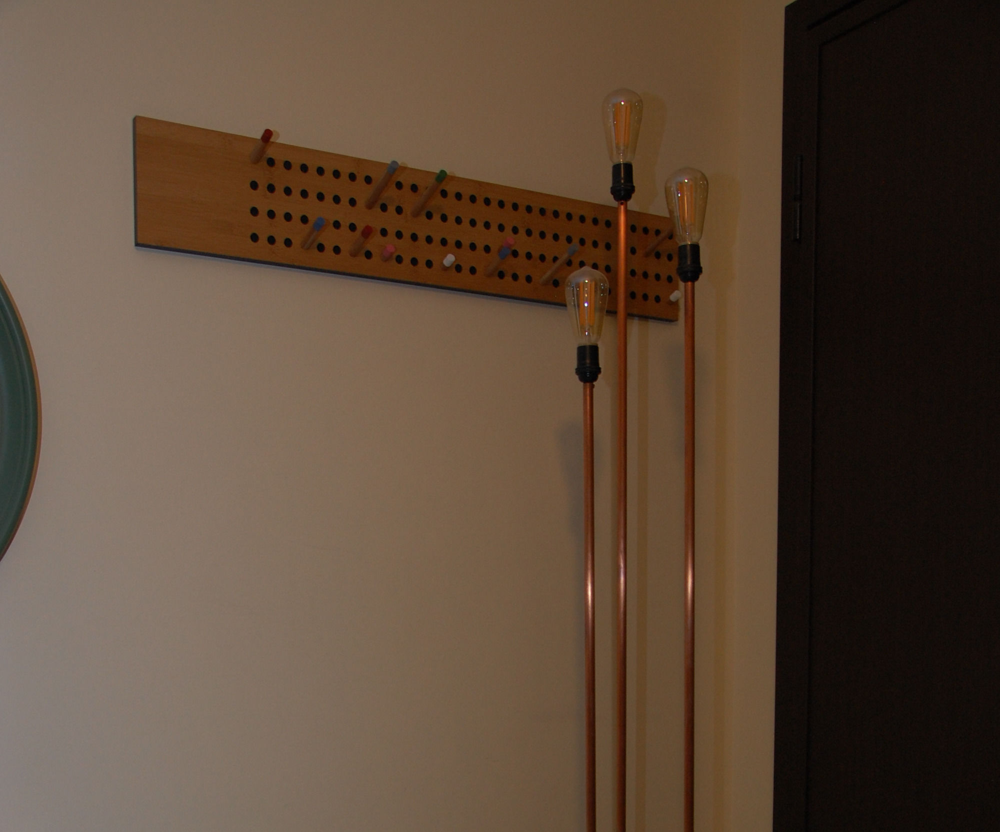 Pipe and concrete floor lamp