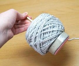 DIY Cement Yarn Holder | Knitting & Crochet Helper