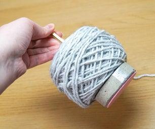 DIY Cement Yarn Holder   Knitting & Crochet Helper