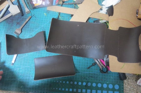 Because We Have the Basic of A-133 Dairy Making, for This One, We Have a Quick Instruction. Cut All Pieces From Acrylic Pattern and Punch Stitching Holes by Pattern.
