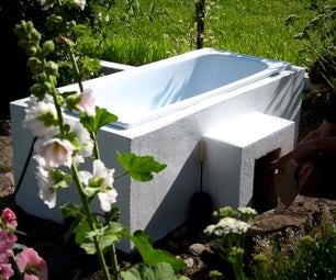DIY Hot Wood Fired Tub +20 for Relax in Garden
