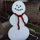 Simple Wood Snowman Lawn Decoration
