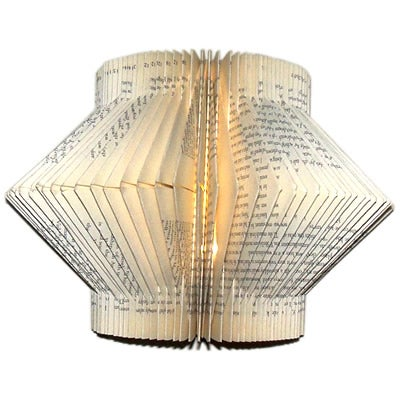 LED Recycled Book Lamp