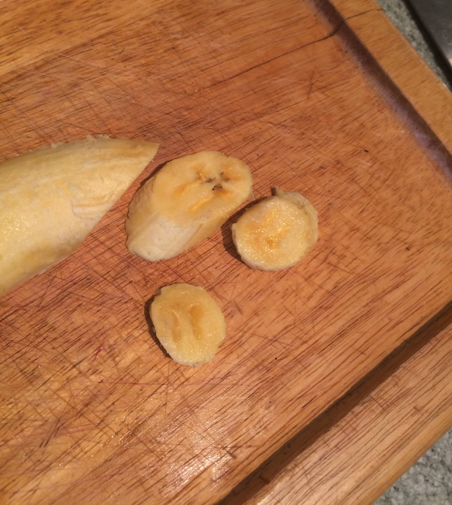 Peel and Cut the Plantains