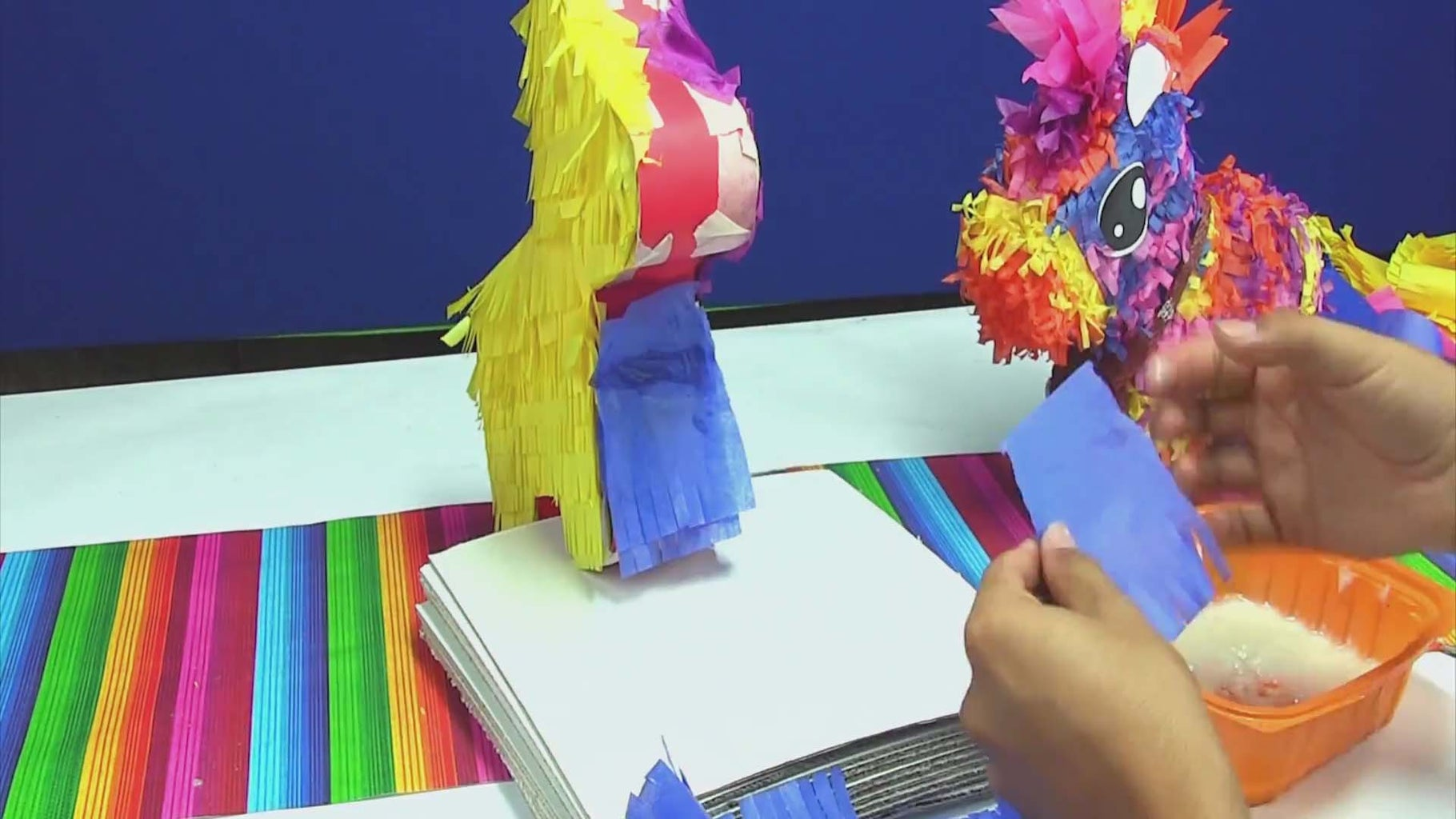 Apply Fringe to the Sides of Your Pinata
