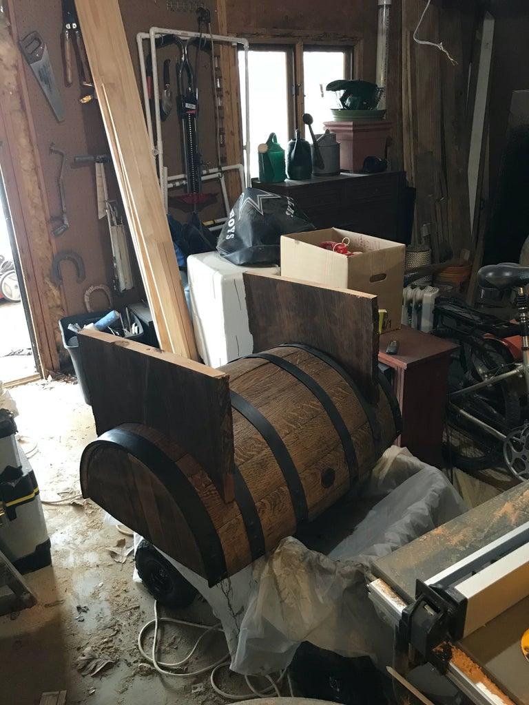 Cut Legs for Barrel.