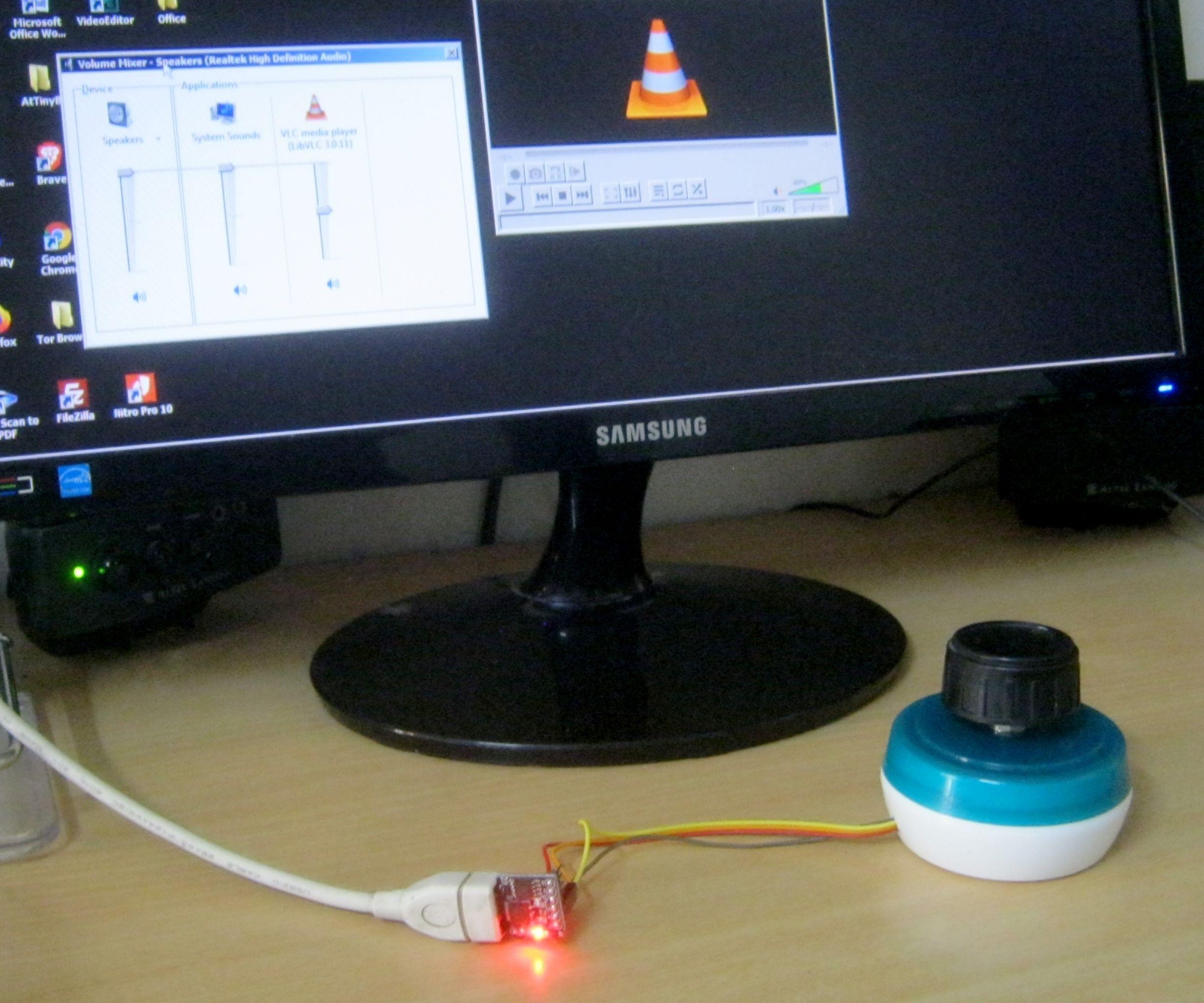 USB Volume Knob Using DigiSpark and Rotary Encoder
