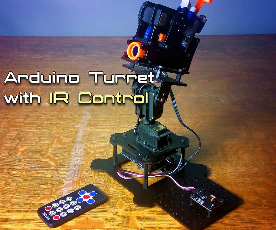 Controlling an Arduino Turret with IR Remote