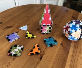 Cardboard and Velcro Building Tiles