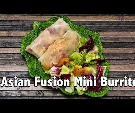 Asian/Mexican Fusion Mini Burritos