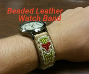 Beaded Leather Watch Band - Beading Tutorial
