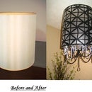 DIY Lampshade Chandelier