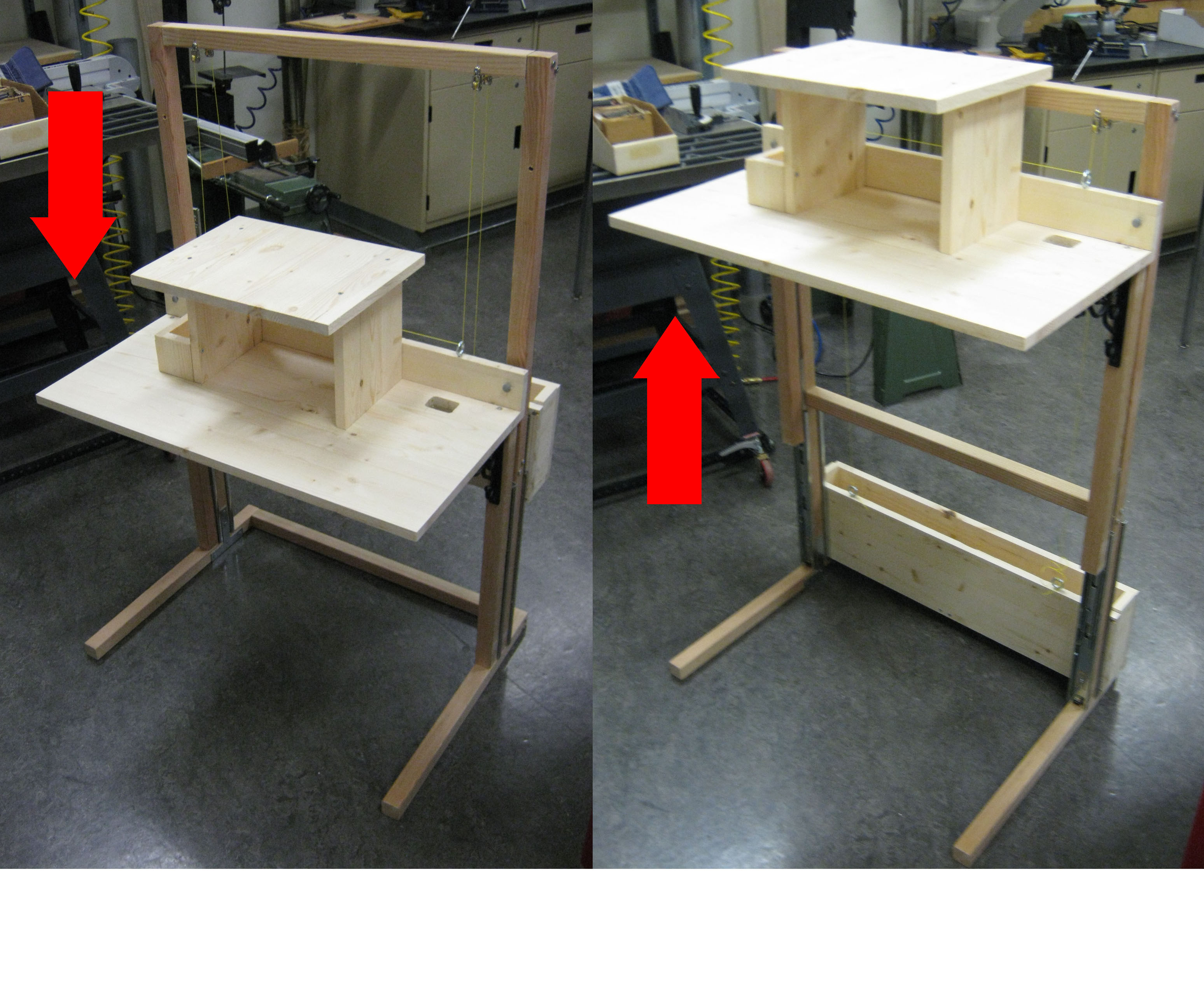 Convertible Standing Sitting Desk For 200 12 Steps With Pictures Instructables