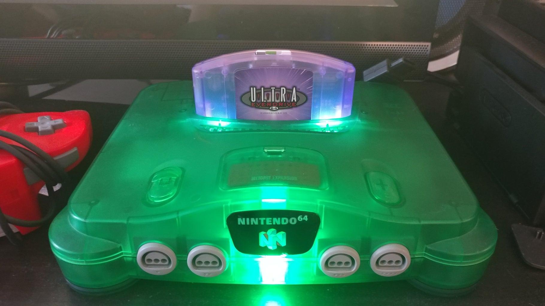 Nintendo 64 Cartridge Slot LED Mod