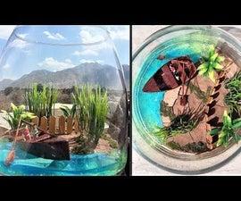 How to Make Epoxy Resin Art|Beach Terrarium|Landscape Row Boat Diorama