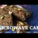 Eggless Microwave Cake - Wholewheat Cake in Microwave