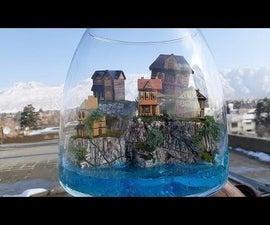 How to Make a Landscape Diorama Beach Hill Terrarium  Manarola Diorama