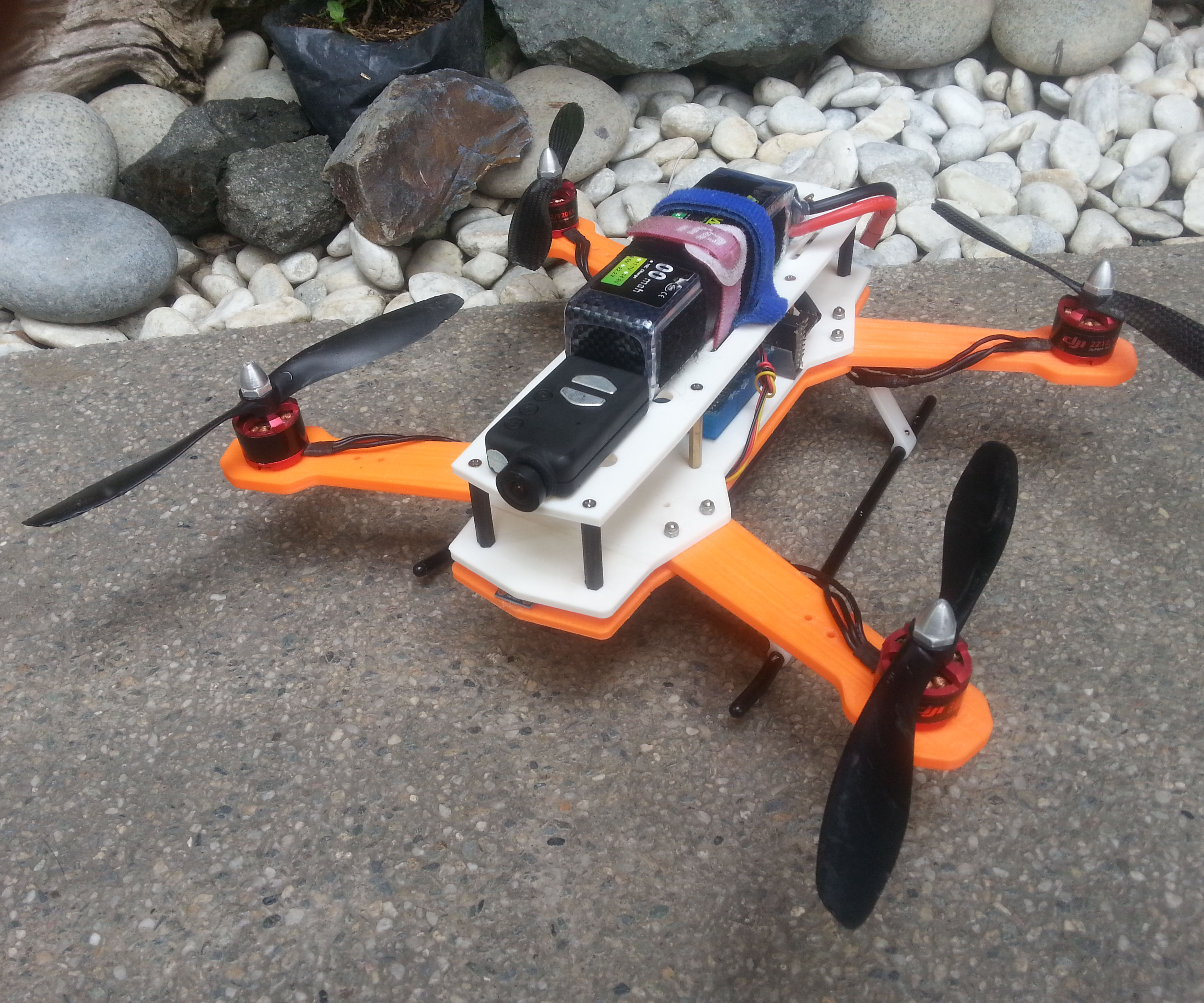 Make an H Quadcopter with 3D printing