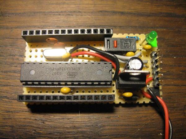 Small Form Factor DIY Arduino on Stripboard