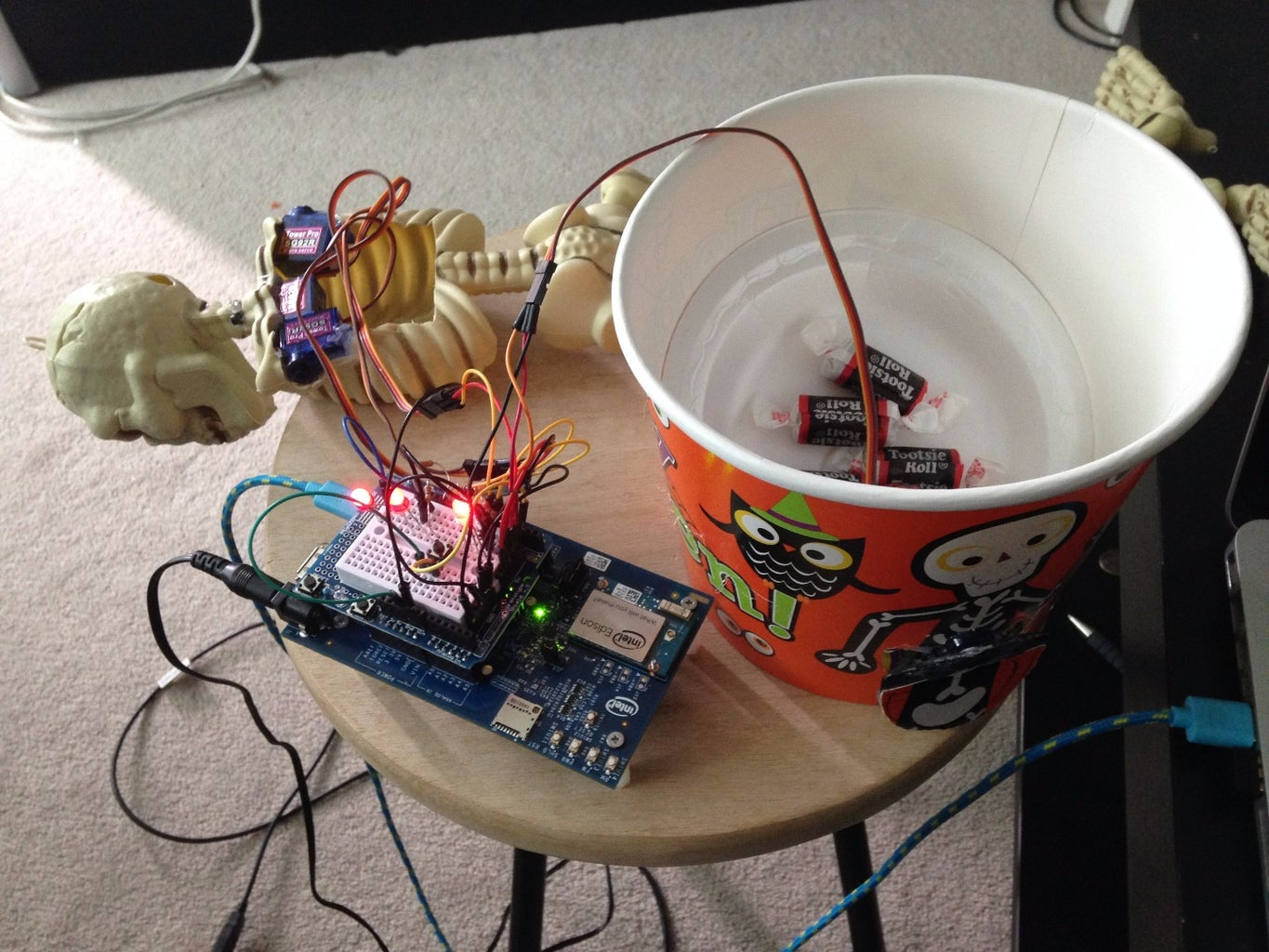 Adding Servo the Dispenser and Testing the Circuit