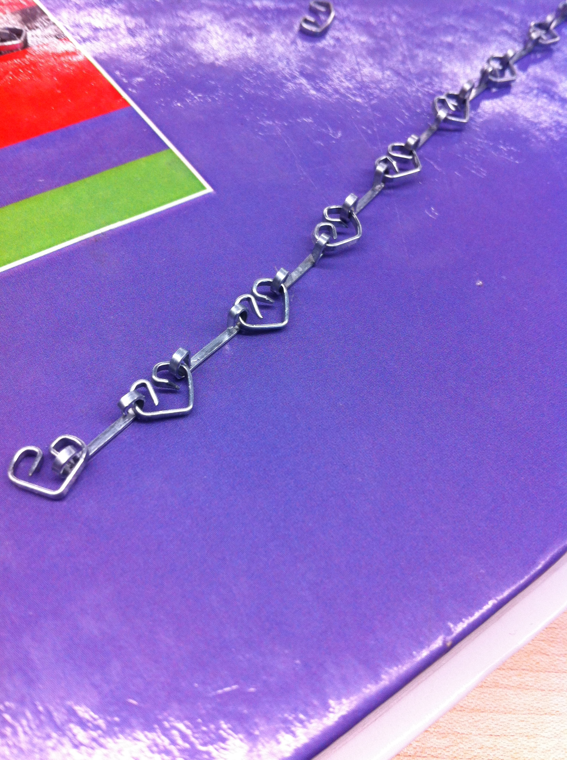 Heart Necklace (made out of staples)