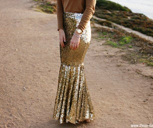 DIY Mermaid Sequin Skirt