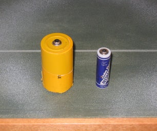 AA to D Cell Adapter