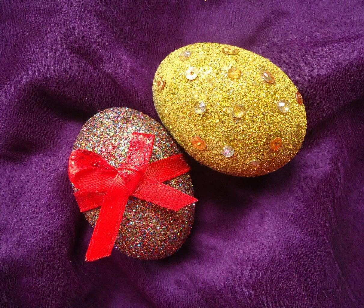 Gilded Concrete Eggs