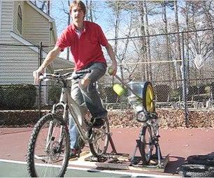 Pedal Powered Tennis Ball Launcher