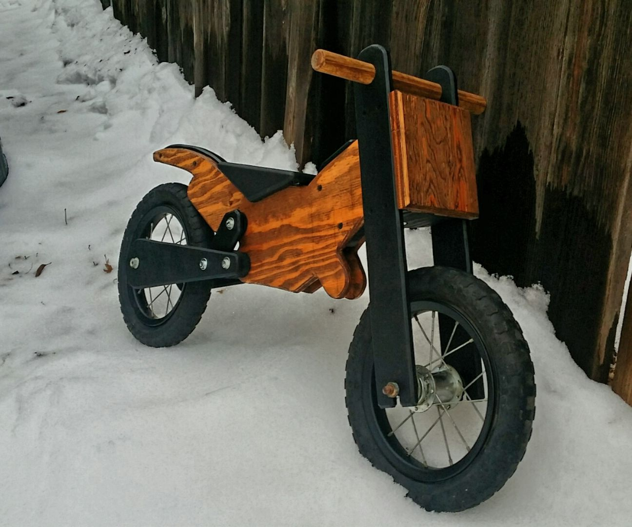 Wooden Balance Motobike