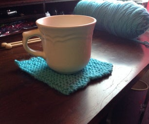Simple Knit Coaster - for Beginners