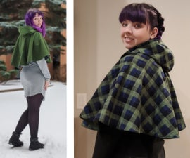 Cozy Reversible Hooded Capelet