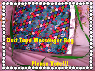 Duct Tape Messenger Bag for School