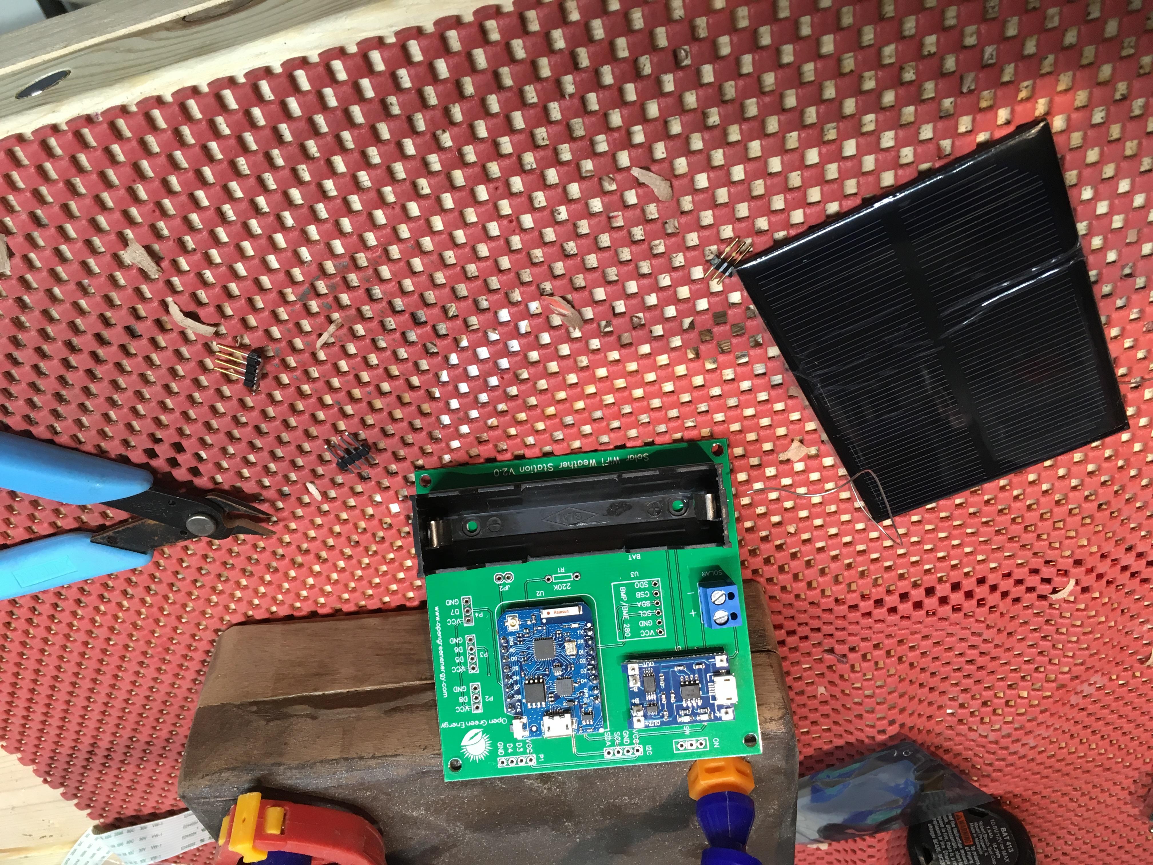 Solar Powered WiFi Weather Station V2.0