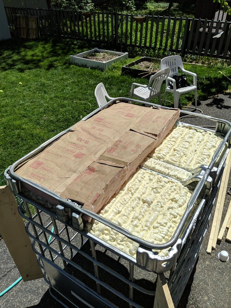 Insulate the Bottom of the IBC Cage