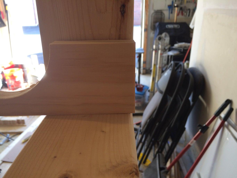 Pre-Drill the Shelves