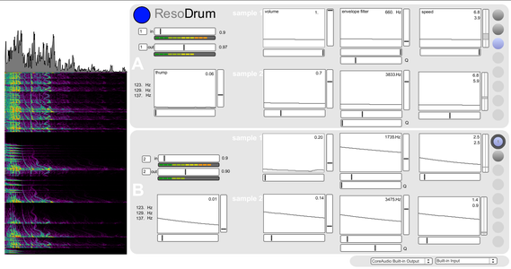 ResoDrums -- Electronic Hand Percussion