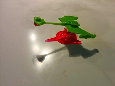 Laser Cut Star Trek Klingon D-7 Model