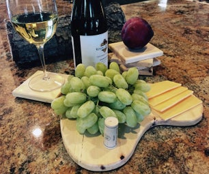Tree Branch Coasters and Cheese Tray