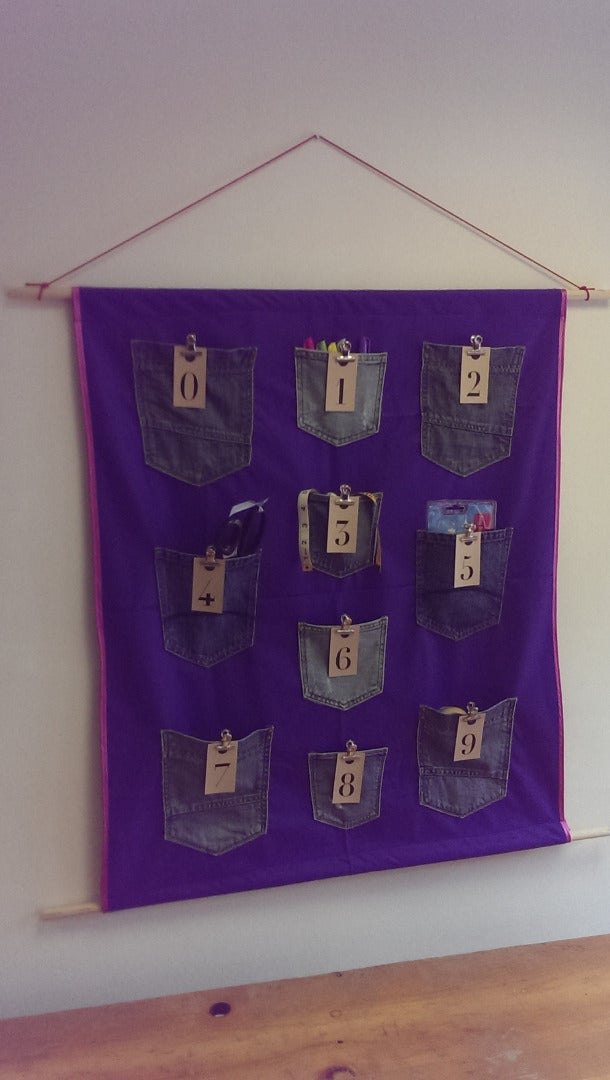 Hanging Wall Pockets From Upcycled Denim