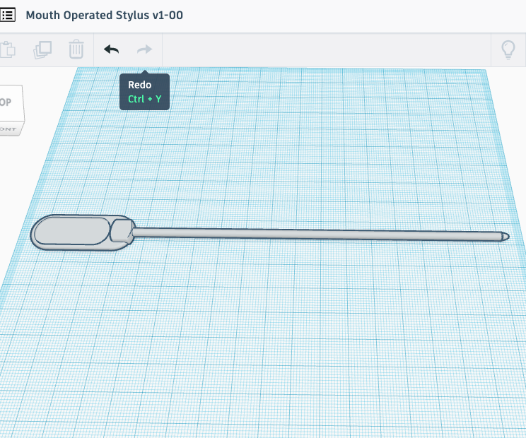 Mouth Operated Stylus (with 3D Printing)