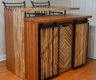 Kitchen Island Cabinet From Reclaimed Wood